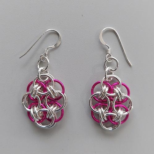 Sterling Silver Helm earrings
