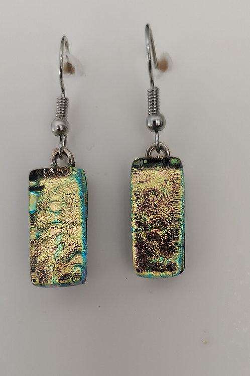 Golden glass earrings