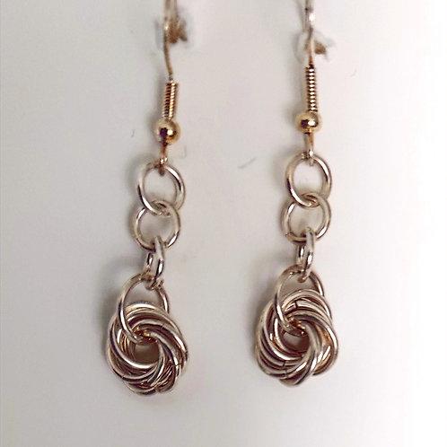 Sterling Silver  Rosette weave earrings