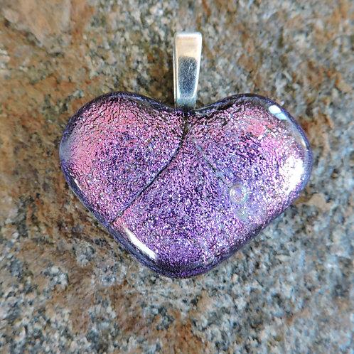 Pink glass heart