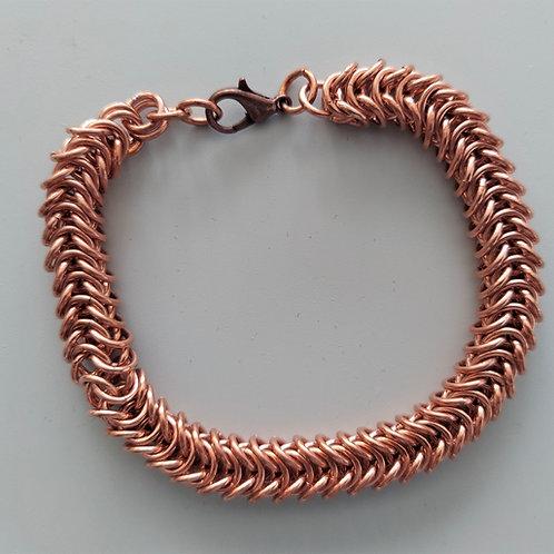 Copper Box weave  bracelet