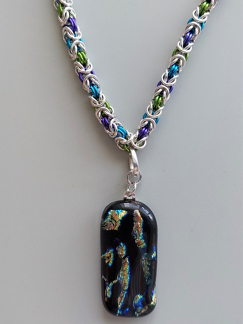 Sterling Silver Byzantine necklace with pendant