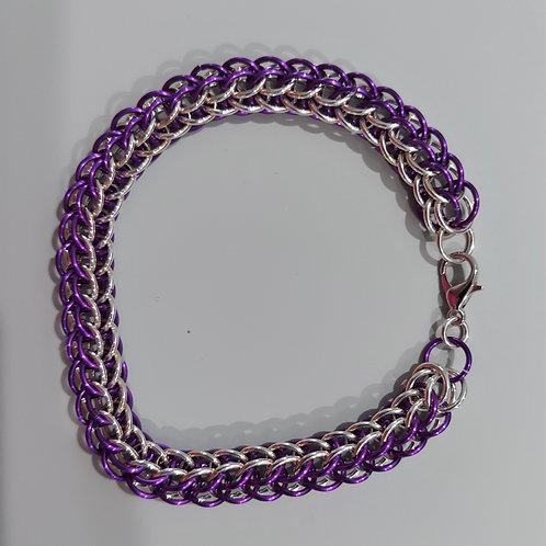 Elegant Sterling Silver & purple bracelet