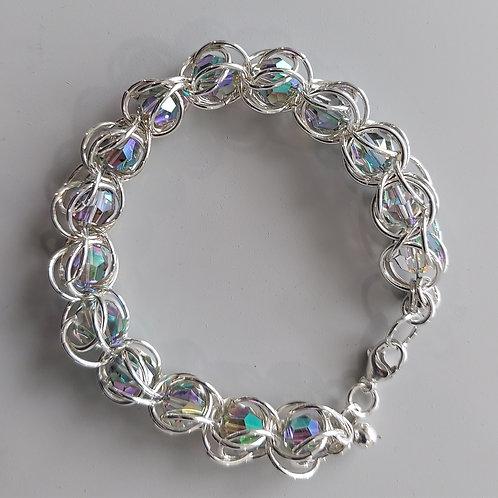 Iridescent Swarovski crystals bracelet
