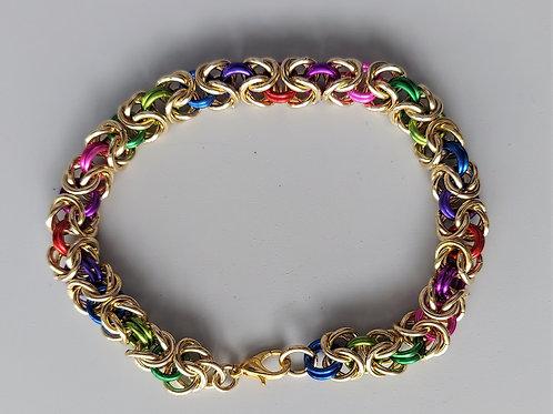 Thick Byzantine NuGold bracelet