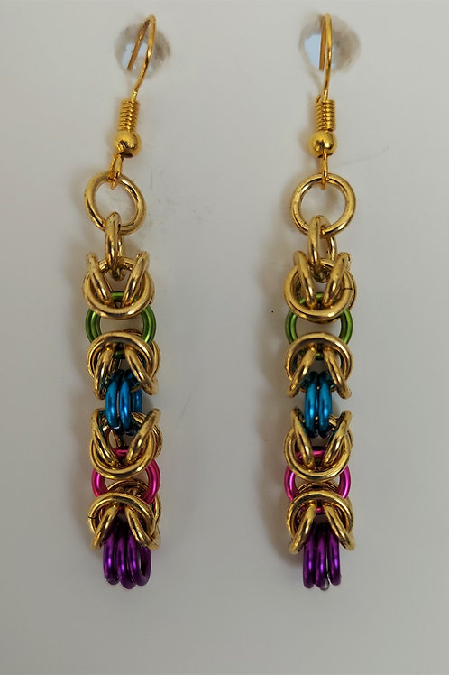 Thick Byzantine NuGold earrings