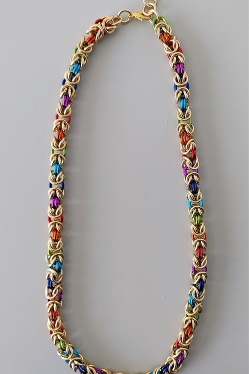 Thick NuGold Byzantine necklace