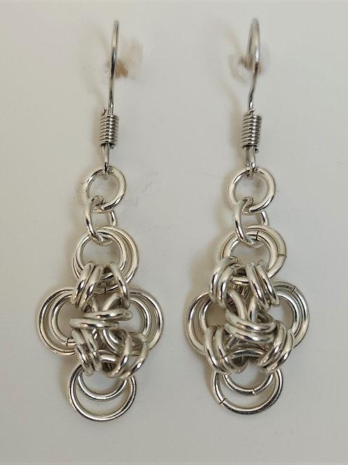 Sterling Silver Japanese cross earrings