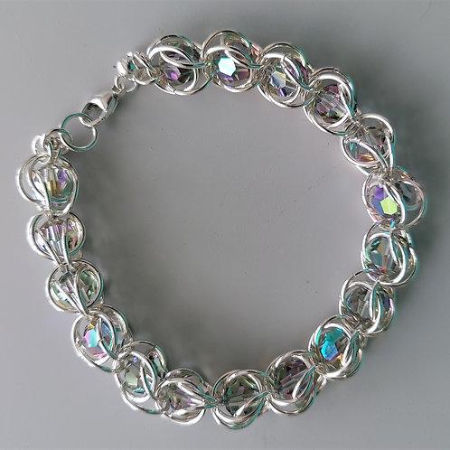 Dusty clear Swarovski crystals bracelet