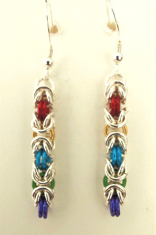 Sterling Silver and multicolored earrings