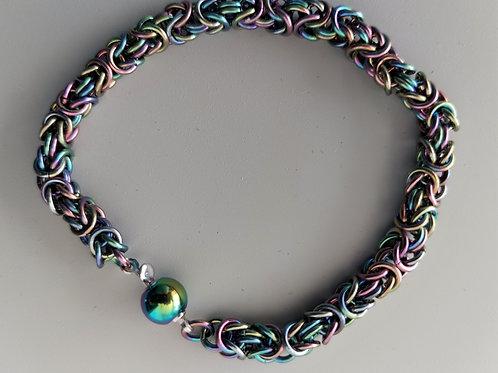 Niobium Byzantine bracelet