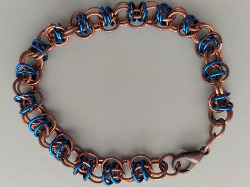 Blue and Copper  bracelet