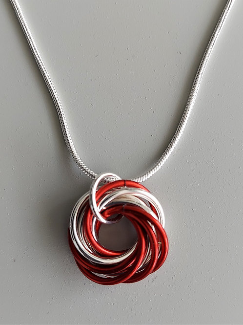 Sterling Silver and Red Love Knot