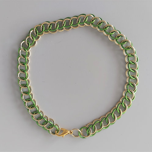 Half Persian bracelet in green and NuGold