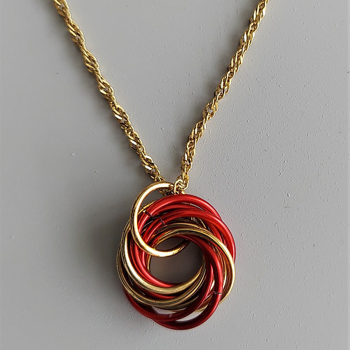 NuGold and red Love Knot