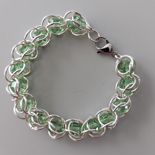 Swarovski crystals  in Sterling Silver bracelet