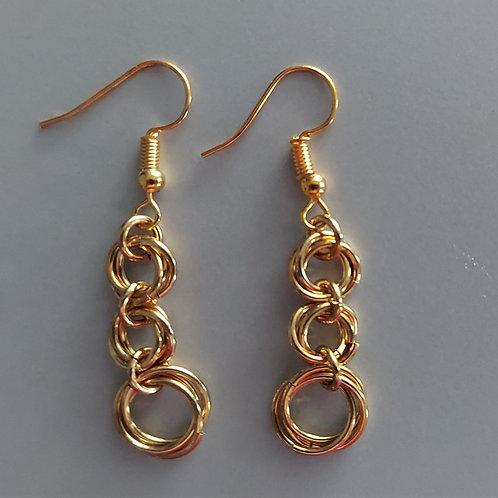Graduated Rosette earrings