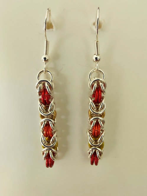 Sterling Silver and multicolor earrings