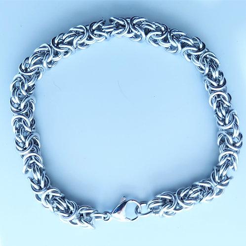 Men's Stainless steel Byzantine bracelet