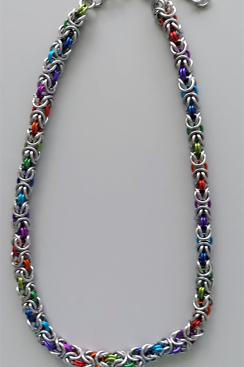 Stainless rainbow necklace