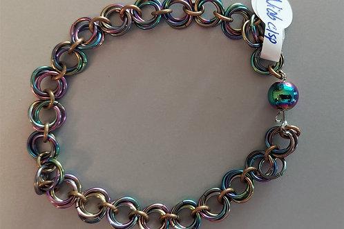 Medium Rosette bracelet in Niobium