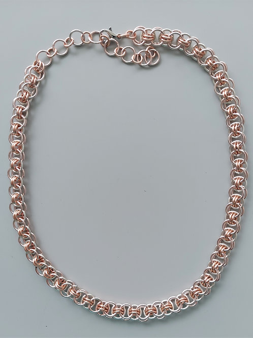 Rose silver Helm necklace