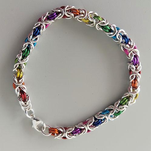 Colorful  Sterling Byzantine bracelet