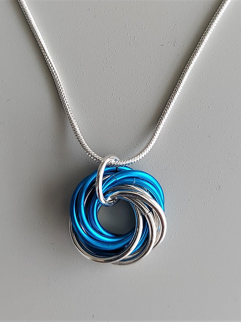 Sterling Silver Turquoise Love Knot