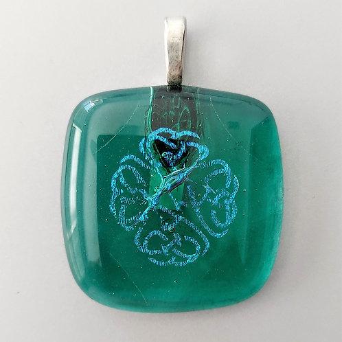 Clear Celtic pendant