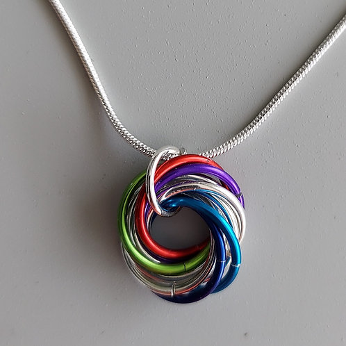 Sterling Silver and Multicolored Love Knot
