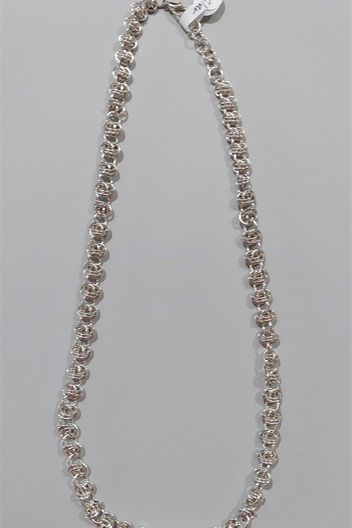 Double Orbital Sterling necklace