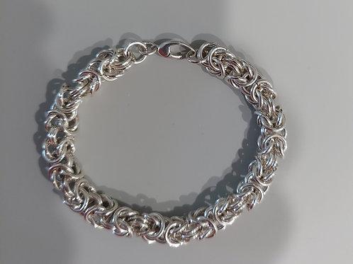 Thicker Byzantine bracelet in Sterling Silver