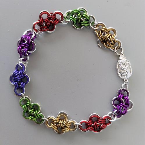 Sterling Silver Japanese cross bracelet