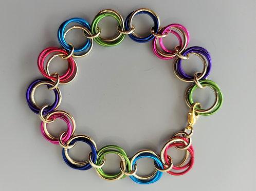 Rainbow Rosette bracelet