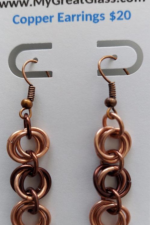 Copper Rosette earrings
