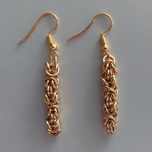 Byzantine earrings in NuGold