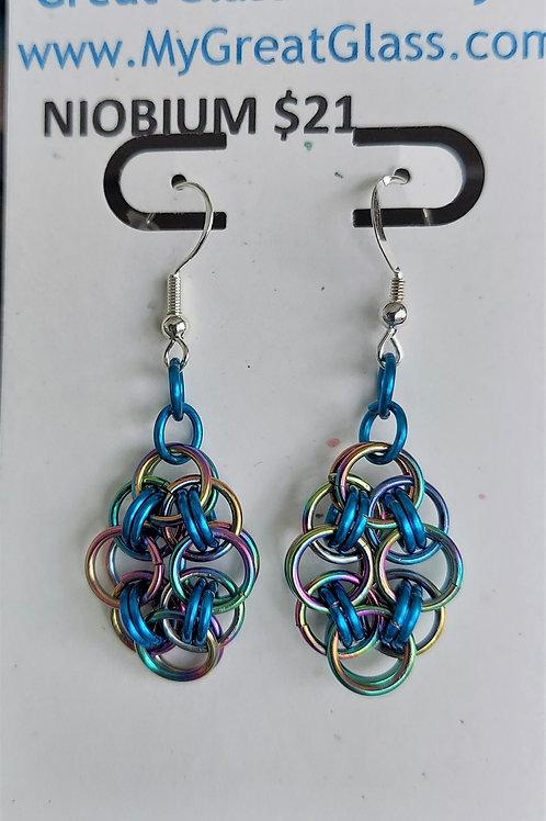 Niobium Helm earrings
