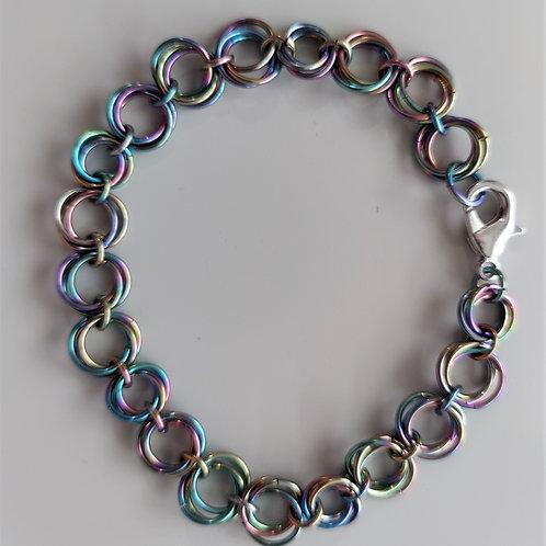 Niobium Rosette bracelet