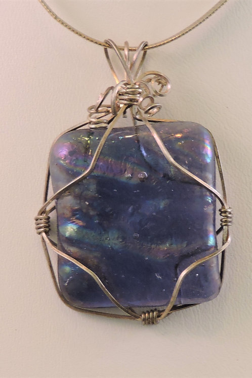 Purples and pinks wire wrapped pendant