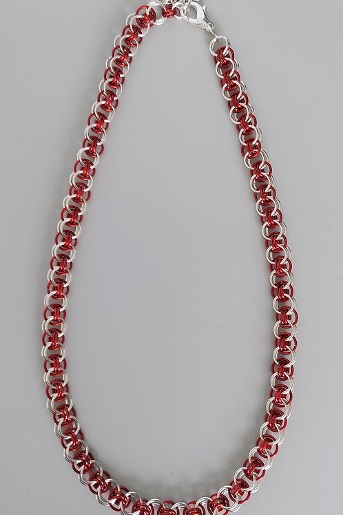 Sterling Silver and red Helm necklace
