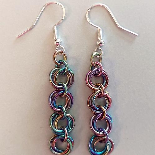 Rosette earrings - long