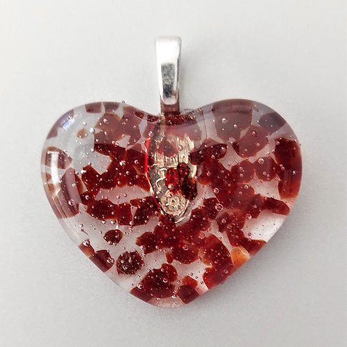 Red dotted glass heart