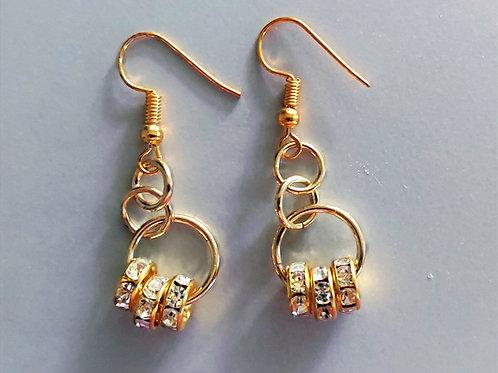 Gold bling earrings