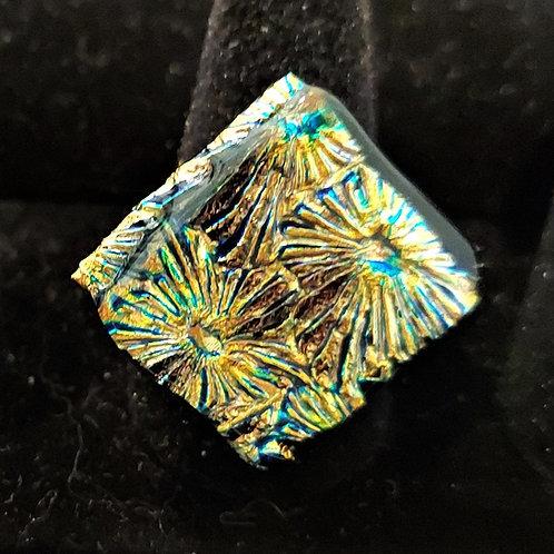 Fireworks dichroic glass ring