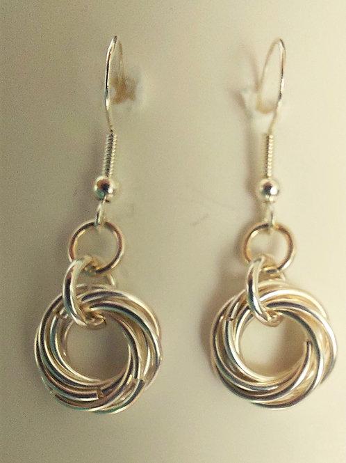 Sterling Silver Rosette earrings