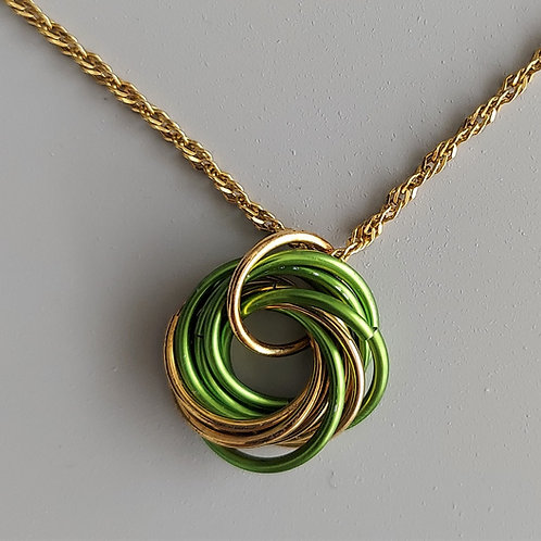 NuGold and green Love Knot