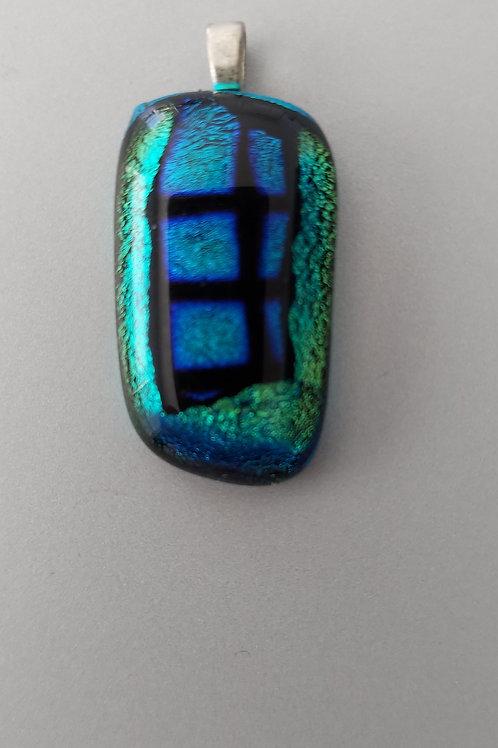 Teal glass pendant