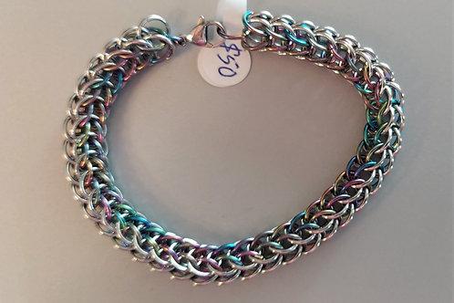 Full Persian weave bracelet in Niobium