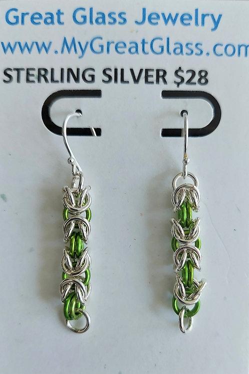 Sterling Silver Byzantine earrings