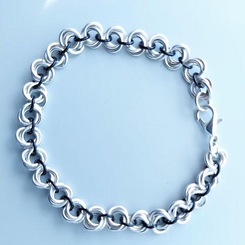Sterling Silver rosette bracelet